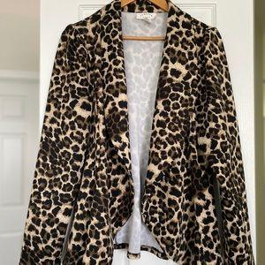 Janette Plus Leopard Blazer